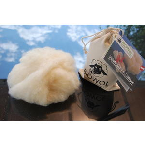 Bio-Heilwolle/Fettwolle aus österreichischer Bio-Schafschurwolle (kbT), 50 g im Baumwollsäckchen (fair hergestellt)