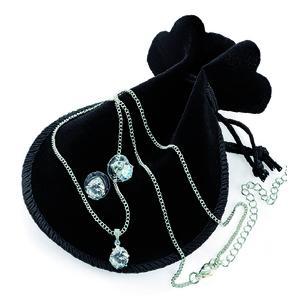 BONUS BRUTAL - 17€ SOFORT GESPART - Bonus-Preis gemeinsam mit ihrer Bestellung statt € 19,90 Halskette mit Crystallanhänger und dazu passende Ohrstecker in Samtbeutel