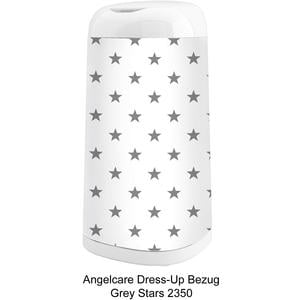 Dress-Up Bezug Grey Stars für Windeleimer Dress-Up
