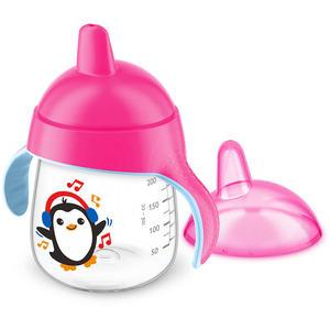 Becher mit Trinkschnabel 260ml Pinguin Pink