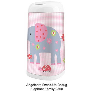Dress-Up Bezug Elephant Family für Windeleimer Dress-Up