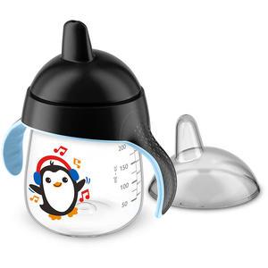Becher mit Trinkschnabel 260 ml Pinguin Black