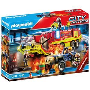 Playmobil Feuerwehreinsatz mit Löschfahrzeug