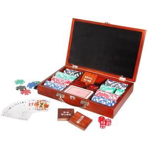 Poker Set im Holzkoffer