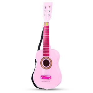Gitarre pink mit Schultergurt
