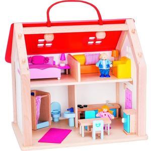 Puppenhaus im Tragekoffer
