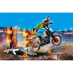 Playmobil Stuntshow Motorrad mit Feuerwand