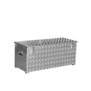 Alu Transportkiste Mod. G - Riffelblech mit Gasdruckdämpfer - Außenmaß LxBxH: 1276 x 519 x 517 mm, Rauminhalt: 312 l