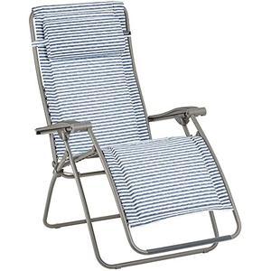 Lafuma Relax-Liegestuhl RSX Clip Mat, Polyester/Baumwolle, Marine (blue stripes)