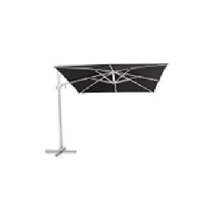 KETTLER EASY SWING LED Ampelschirm Ø 350 cm silber/schwarz, Aluminium/Obravia