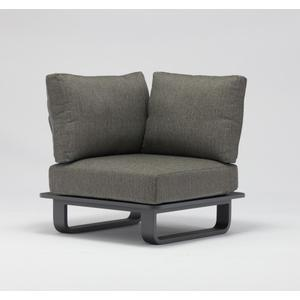 Garino Eckelement Slim Aluminium anthrazit inkl. Sitz und Rückenkissen