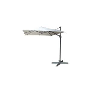 KETTLER EASY SWING Ampelschirm 300x300 cm silber/grau Aluminium/Obravia