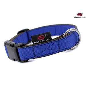 SUCHtrupp Hundehalsband MEDIUM, Klick Halsband, PURE royalblue