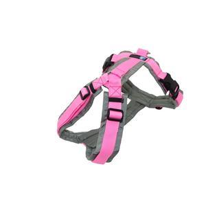 AnnyX Brustgeschirr FUN grau/rosa Größe L (Sonderfarbe)