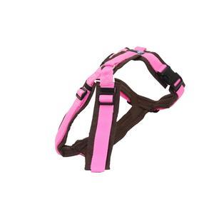 AnnyX Brustgeschirr FUN braun/rosa Größe L (Sonderfarbe)