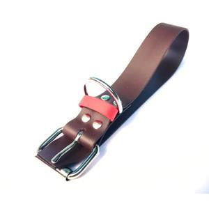 Biothane Halsband braun/rot Größe L