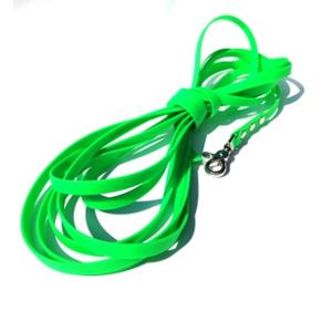 Biothane Leine 10m in grün mit Scherenkarabiner