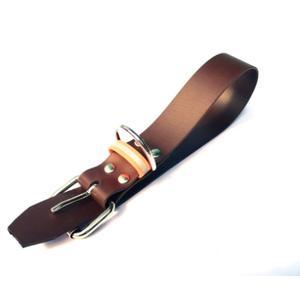 Biothane Halsband braun/orange mit Reflektierstreifen Größe L