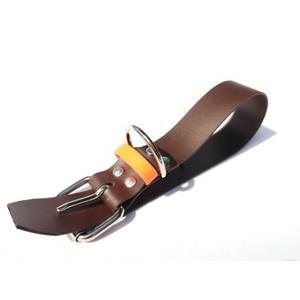 Biothane Halsband braun/orange Größe M