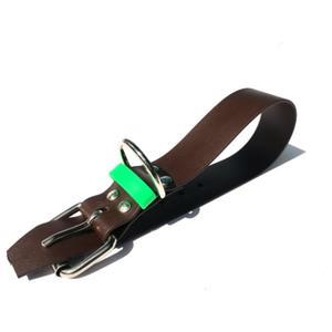 Biothane Halsband braun/grün Größe M