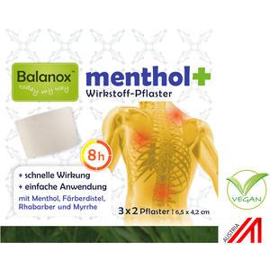 Balanox™ menthol+ Wirkstoff-Pflaster für Nacken, Schulter, Rücken, Glieder | wohltuend bei Sport, Verspannungen, akuten Belastungen