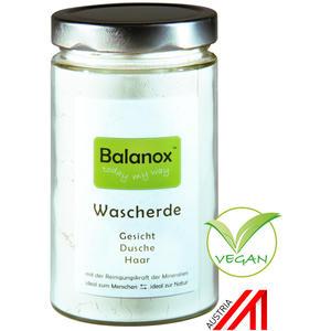 Balanox™ Wascherde im Glas | basische Tonerde | chemiefrei duschen | natürliche Alternative zu Duschgel, Gesichtsseife, Haarseife und Shampoo