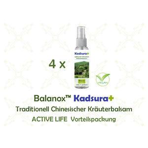 Balanox™ Kadsura+ Traditionell Chinesischer Kräuterbalsam ACTIVE LIFE Vorteilspackung (4x 60ml) | wohltuender Sport Spray | wirkt sehr schnell | vegan