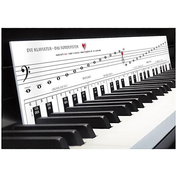 TonGenau - Klaviatur mit Herz | Klavier lernen mit Freude & Spaß - einfach & schnell | optimale Lernhilfe für Klavier, Piano und Keyboard