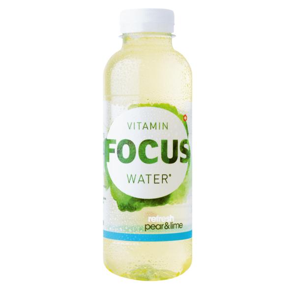 Focuswater Pure Birne & Limette 12 x 0.5 Liter