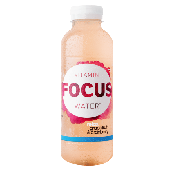 Focuswater Relax Grapefruit & Cranberry 12 x 0.5 Liter