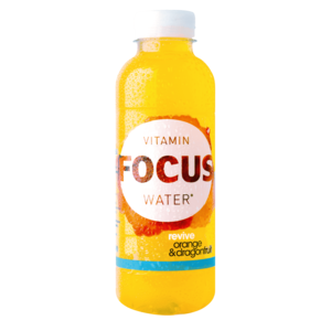 Focuswater Active Orange & Drachenfrucht 12 x 0.5 Liter