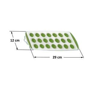 Eiswürfelform für 21 Eiswürfel grün