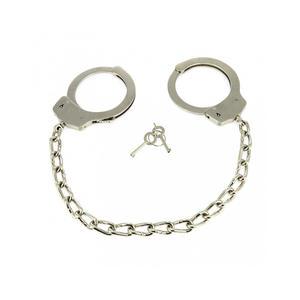 Fußfesseln mit Kette aus Metall nach Polizei Standard