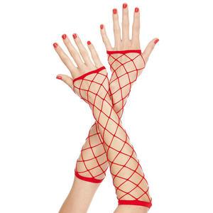 Netzhandschuhe in rot von Music Legs