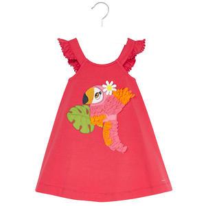 Kleid bestickt Papagei