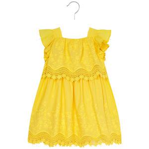 Kleid bestickt Gelb
