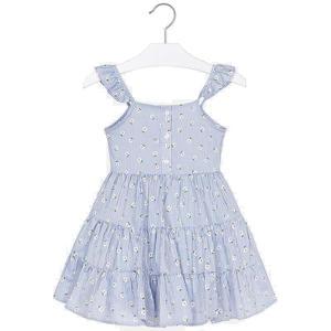 Kleid gestreift Margeritenmuster