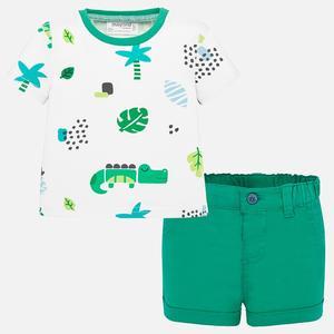 Set mit kurzer Hose und T-Shirt mit Muster