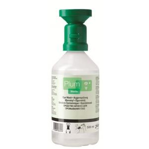 Plum Augenspülflasche 500 ml Flasche mit steriler 0,9% Kochsalzlösung
