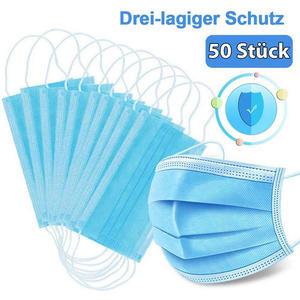 50 Stück Mund- u. Nasenschutzmaske Hammerpreis €20