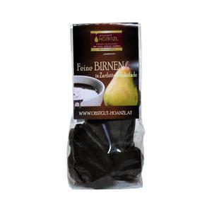 Birne in Zartbitterschokolade, 150g, Obstgut Hoanzl