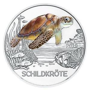 3€ Tiertaler 2019 Schildkröte