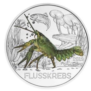3€ Tiertaler 2019 Flusskrebs