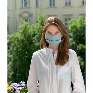 MuNa Masken Mund Nasen Maske - BIO Baumwolle und BIO Jersey - in Wien handgemacht handgenäht - Größe verstellbar - BLAU