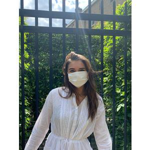 MuNa Masken Mund Nasen Maske - BIO Baumwolle und BIO Jersey - in Wien handgemacht handgenäht - Größe verstellbar - BEIGE