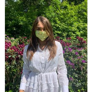 MuNa Masken Mund Nasen Maske - BIO Baumwolle und BIO Jersey - in Wien handgemacht handgenäht - Größe verstellbar - GRÜN