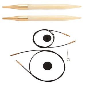 """Knit Pro """"Bamboo"""" Nadelspitzen und Seile Set 9teilig"""
