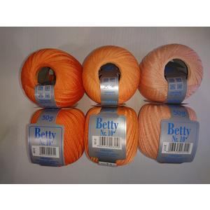 BETTY Häkelgarn 10_ 6x50g - orange