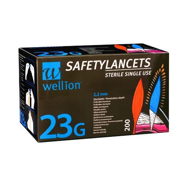 Wellion SafetyLancets 23G