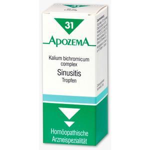 Apozema Sinusitis-Tropfen Nr. 31 Apozema